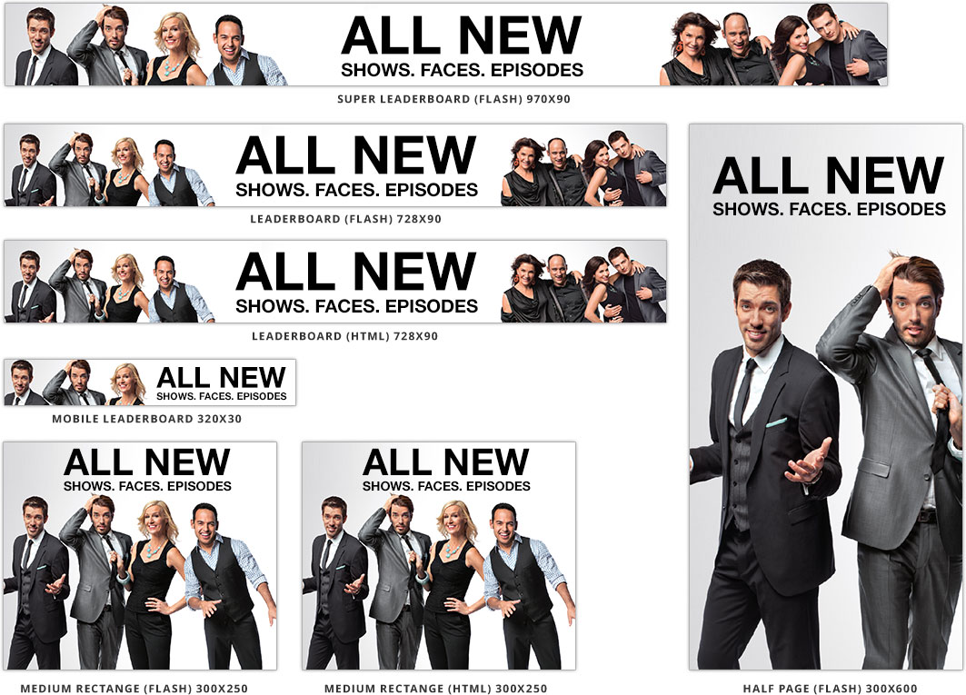 The promotional banners designed to promote upcoming shows and content to check out on WNetwork.